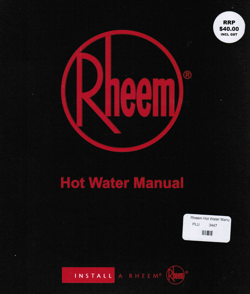 Rheem Hot Water Manual - w/o