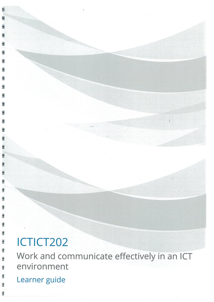 Work and Communicate Effectively in an ICT Environment V5