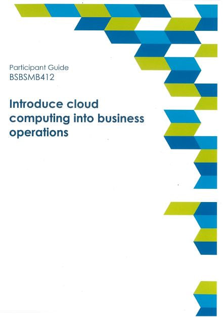 Introduce Cloud Computing into Business Operations Participant Guide