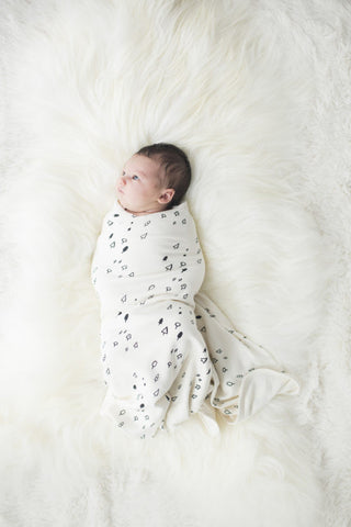 Le Edit Tree Run Organic Baby Wrap
