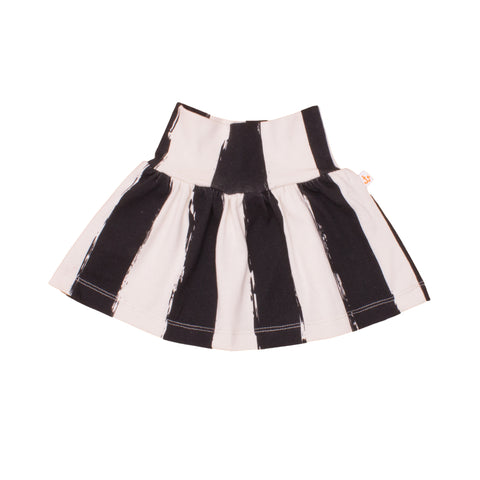 Noe and Zoe Organic Baby Skirt Black Stripe