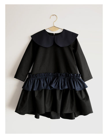 Wolf and Rita Black Navy Adelaide Dress