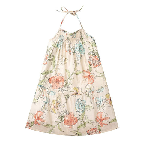 Celeste Dress Floral Cotton Voile