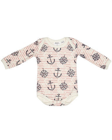 Two Tykes Ship Ahoy Long Sleeve Romper
