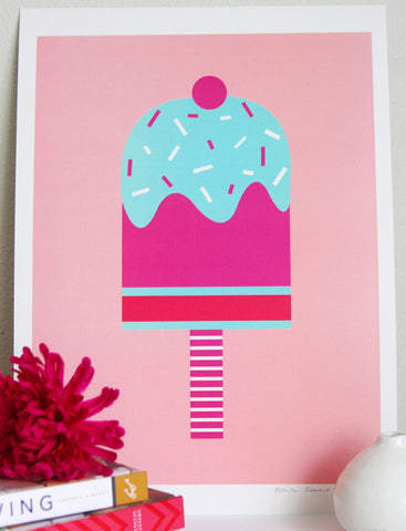 White Forest Home- Pop Ice Wall Print