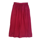 MINOUCHE CAMILLA MAXI SKIRT PERSIAN RED SILK