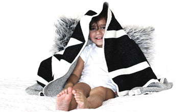 Little Cocoa Bean Geo Blanket
