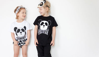 Maiko Mini Panda Dude Black Tee