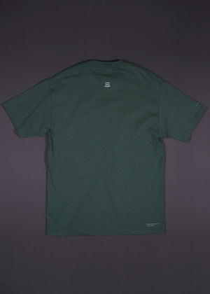 Kings Without Crowns. Kings Brush Embroidered Tee. Forest Green Color Option.