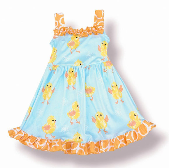 Toddler Girls Little Ducks Tank Dress