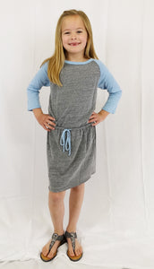 Girls Jersey Color Block Dress