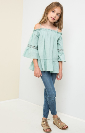Junior Girls Off The Shoulder Tunic