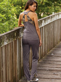Ladies Gunmetal Grey Mossy Oak Active Fitted Tank