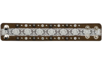 Ladies Brown Leather & Lace Bracelet