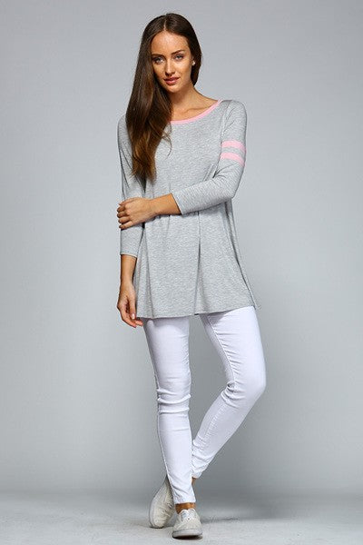 Ladies Long Sleeve A-Line Tunic Top