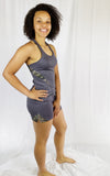 Ladies Gunmetal Grey Mossy Oak Active Shorts