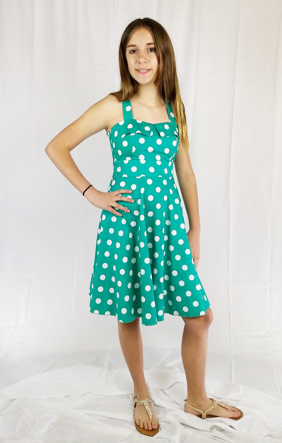 Teen & Junior Girls Polka Dot A-line Dress