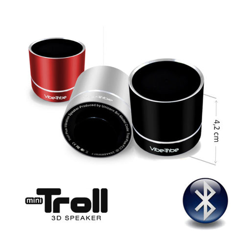 Vibe-Tribe Troll MINI: 3Watt Bluetooth Vibration Speaker, NFC, Conf Call