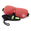 Red Bamboo & Cotton Bedtime Bliss® Contoured & Comfortable Sleep Mask