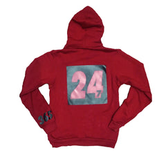 365 Clothing Forever Trappin Hoodie - Cranberry/Black