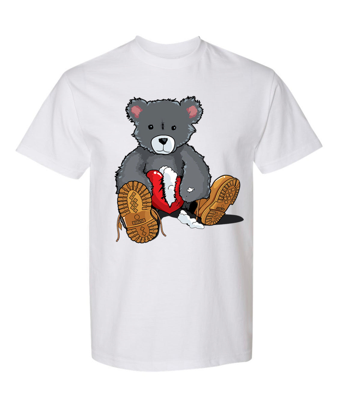 365 Clothing Broken Heart Bear T-Shirt -White