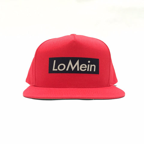 Lo Mein Collection 3M Reflective 5 Panel SnapBack Hat - Red