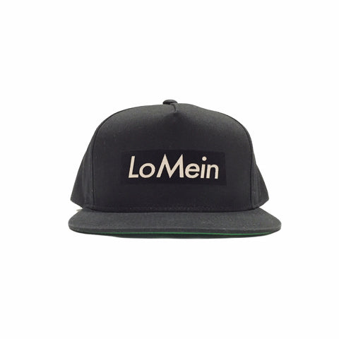 Lo Mein Collection 3M Reflective 5 Panel SnapBack Hat - Black