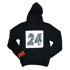 365 Clothing Forever Trappin Hoodie - Black/White