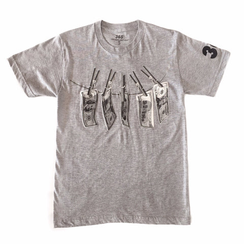 "365 Clothing ""Dirty Money"" Tee - Grey"