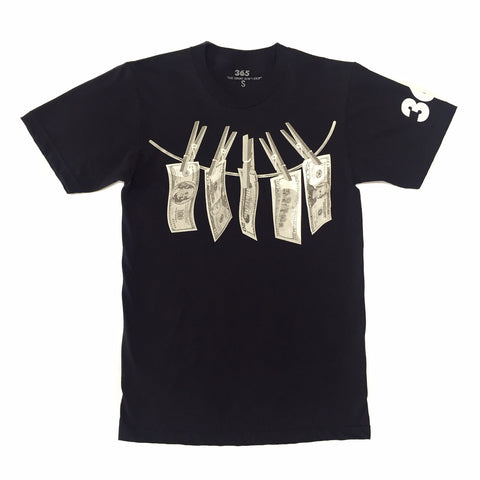 "365 Clothing ""Dirty Money"" Tee - Black"