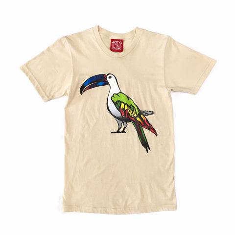Guy Benson Collection Exotic Bird Tee - Creme