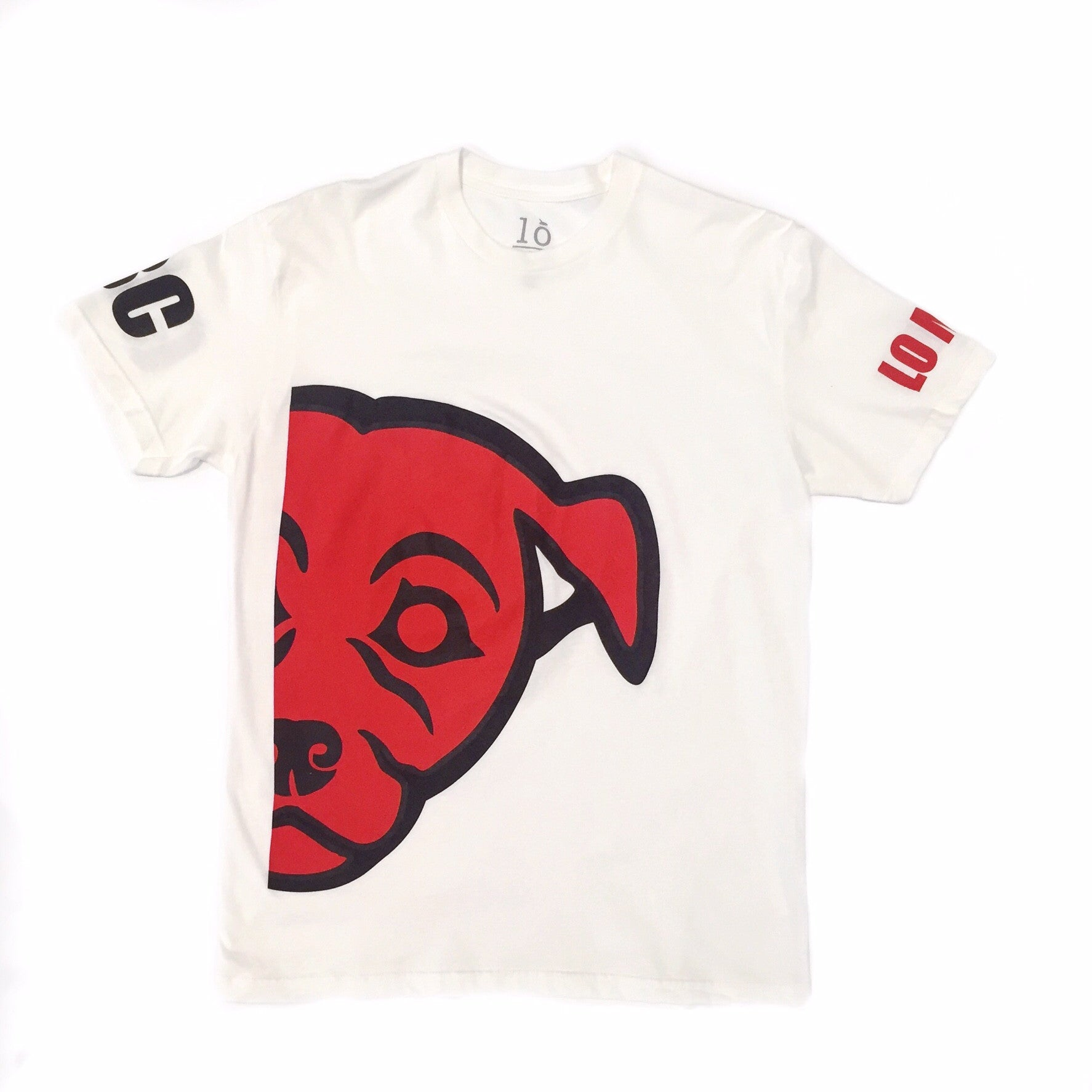 Lo Mein Collection/GBC Saki By My Side Collabo Tee - White/Red/Black