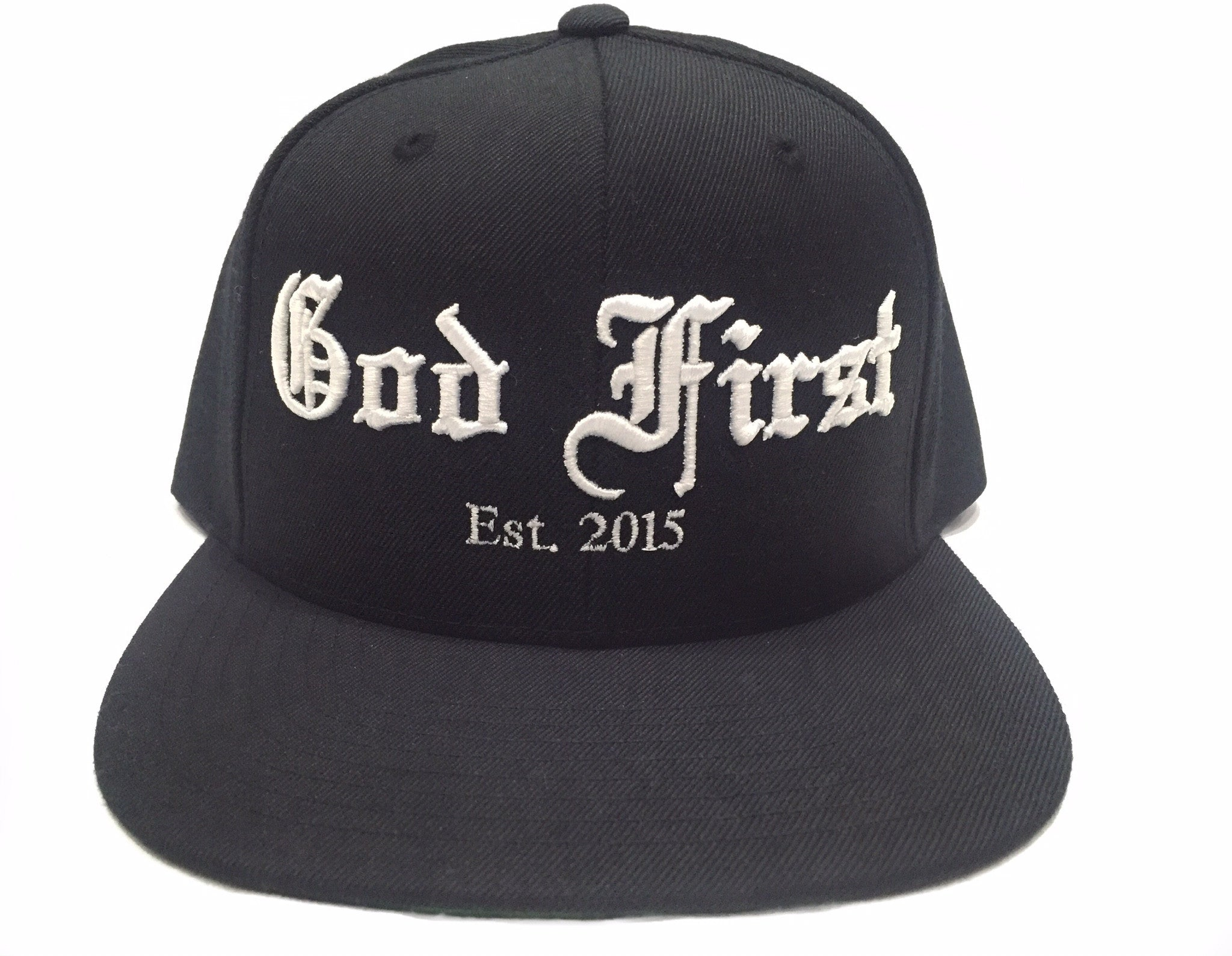 God First Signature Snapback Hat -Black/White