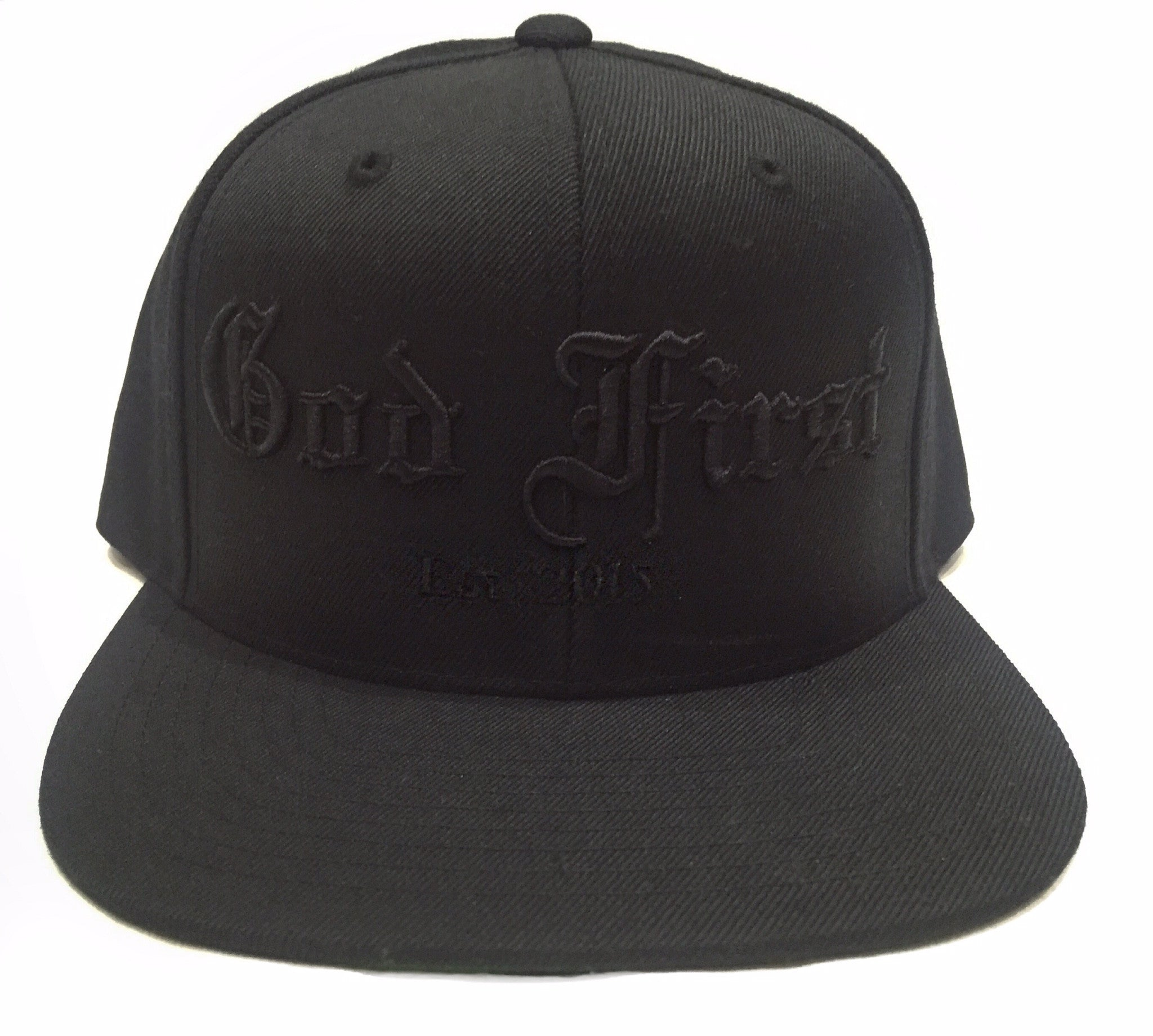 God First Signature Snapback Hat -Black/Black