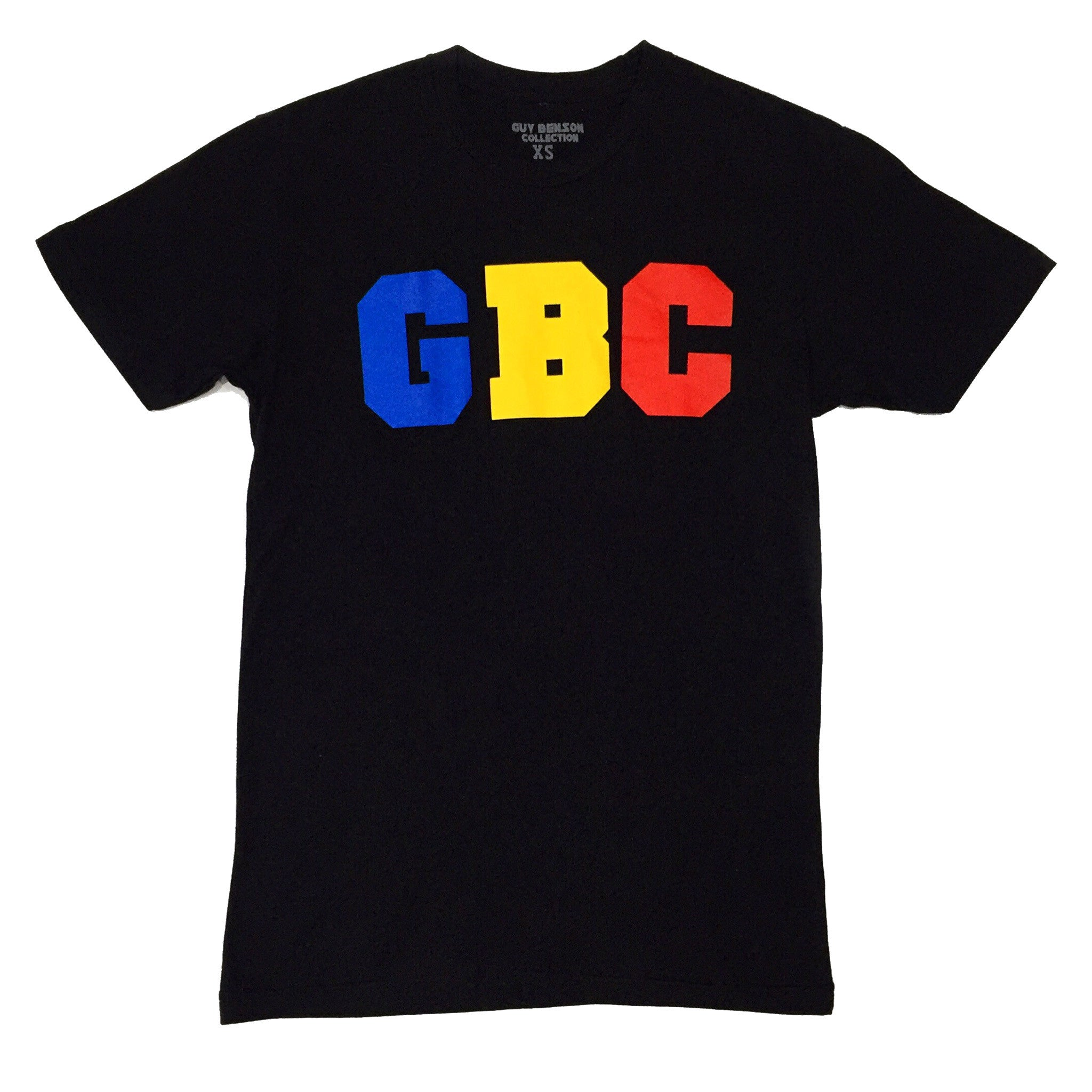 "Guy Benson Collection ""GBC"" logo tee - Black/Blue/Yellow/Red"