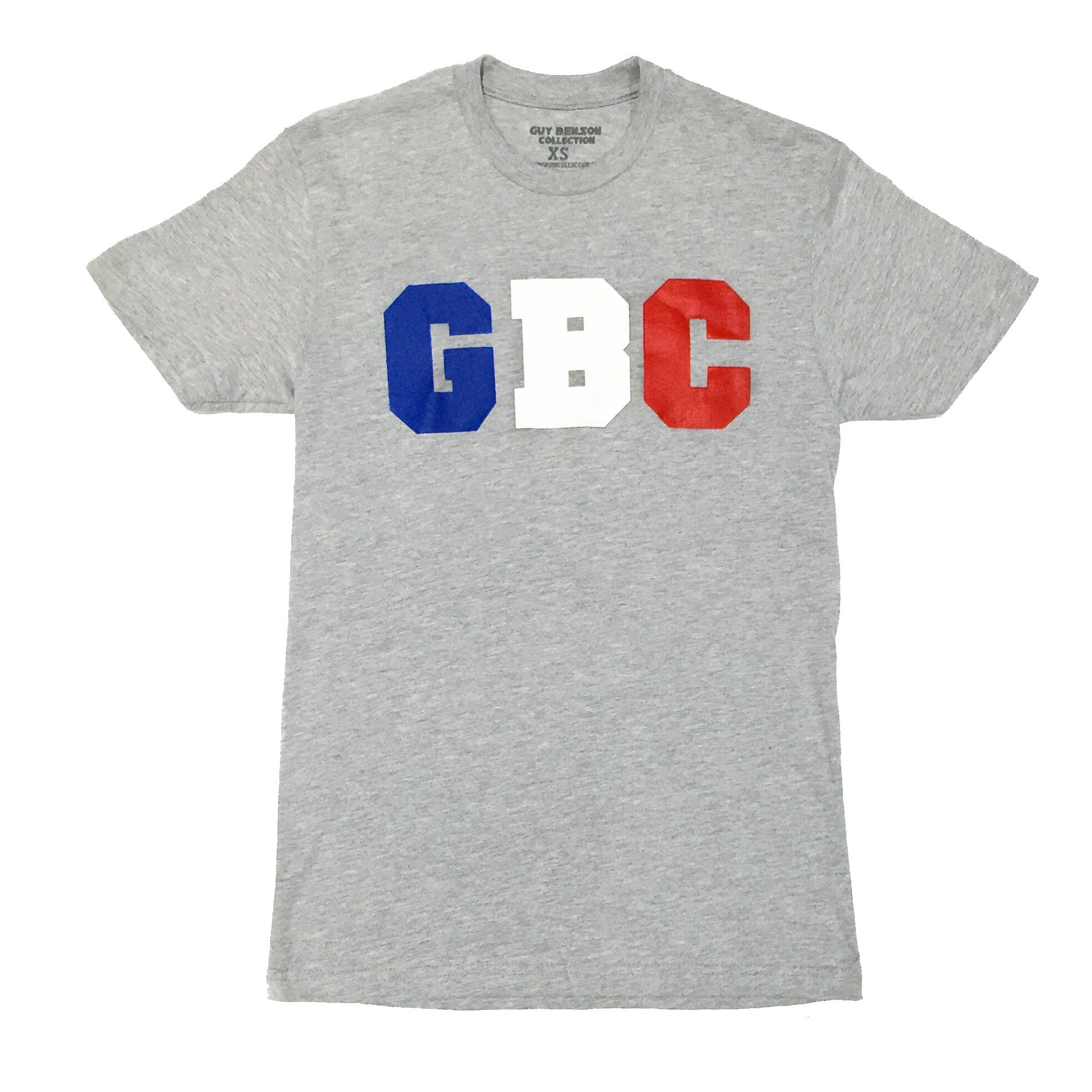 "Guy Benson Collection ""GBC"" logo tee - Grey/BlueWhite/Red"