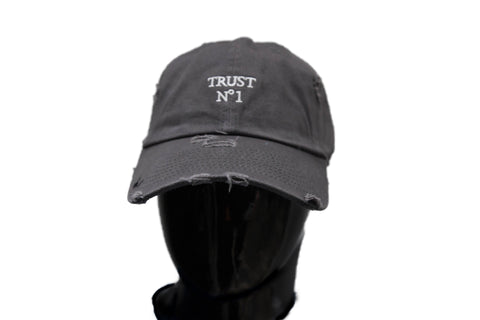 Lit distressed Dad Hat - Smoke Grey