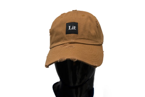 Lit distressed Dad Hat - Wheat