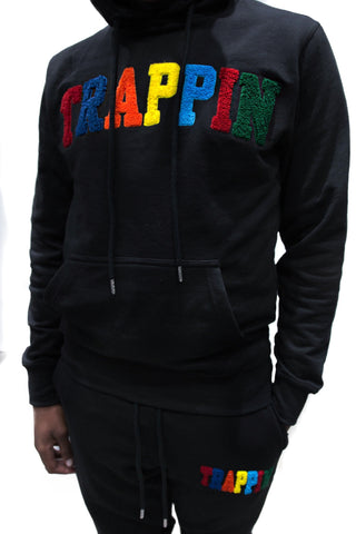 "365 Clothing ""Trappin"" Chenille Sweatsuit -Black"