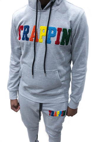 "365 Clothing ""Trappin"" Chenille Sweatsuit -Grey"