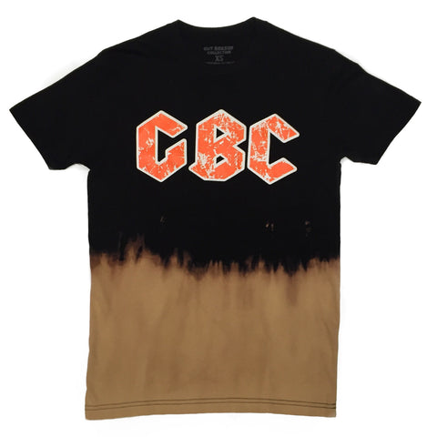 "Guy Benson Collection ""GBC"" Bleached logo tee - Black/White/Orange"