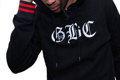 "Guy Benson Collection ""GBC"" Old English Hoodie -Black/Red"