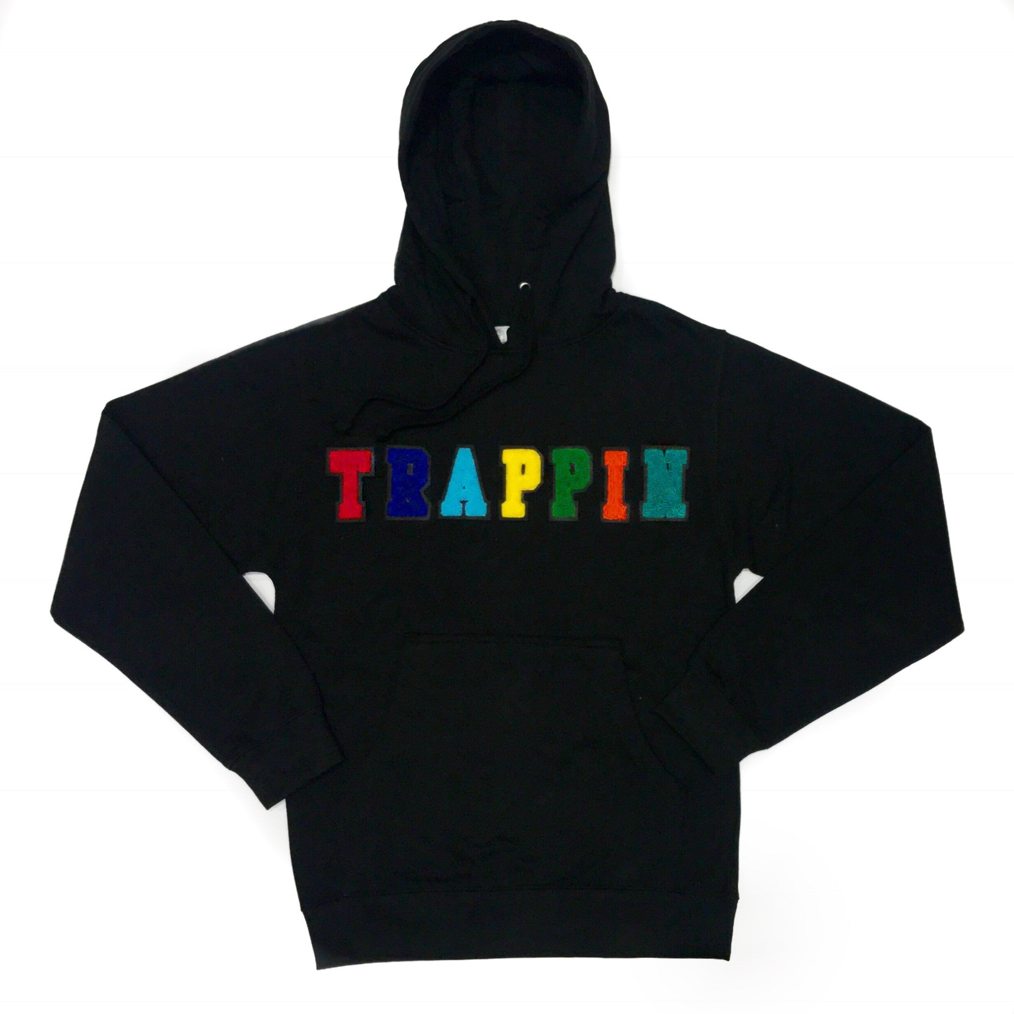 "365 Clothing ""Trappin"" Chenille Pullover Hoodie -Black"