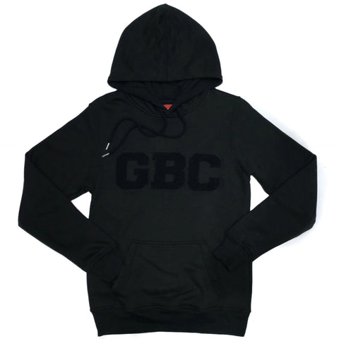 "Guy Benson Collection ""GBC"" Chenielle Patch Pullover Hoodie -Black on Black"