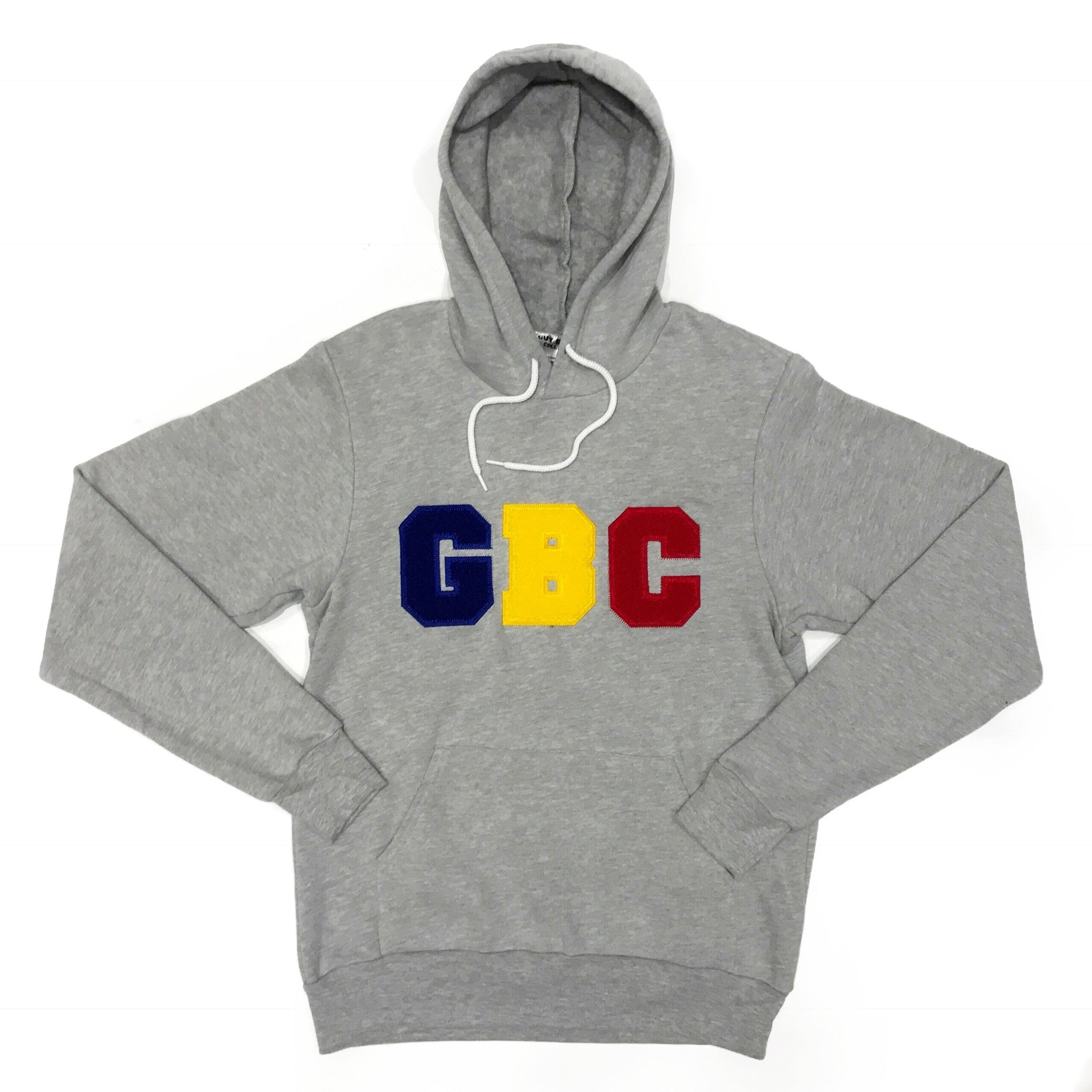 "Guy Benson Collection ""GBC"" Chenielle Patch Pullover Hoodie -Grey/Blue/Yellow/Red"