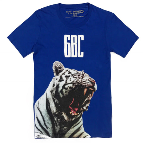 Guy Benson Collection White Tiger Tee - Royal Blue