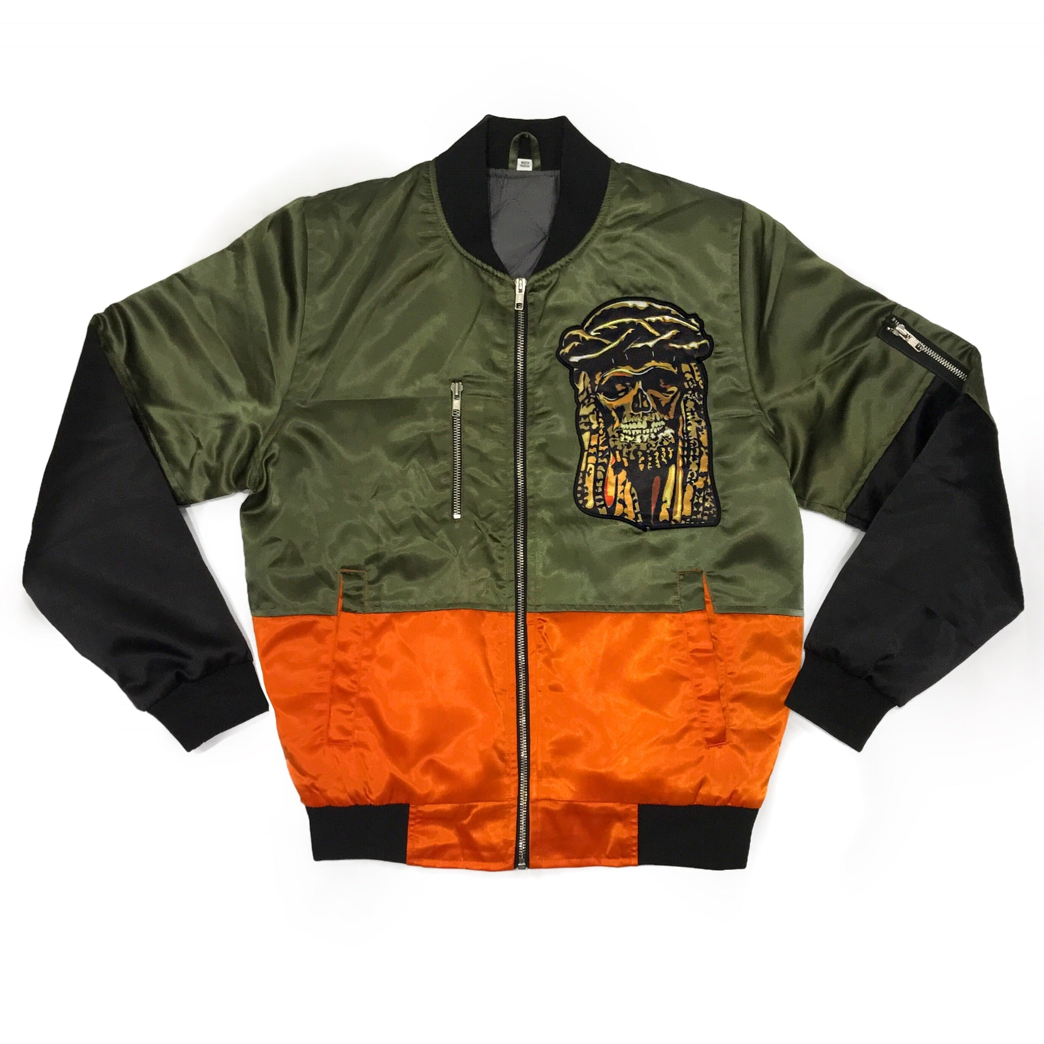 365 Clothing Jesus Patch Bomber Jacket
