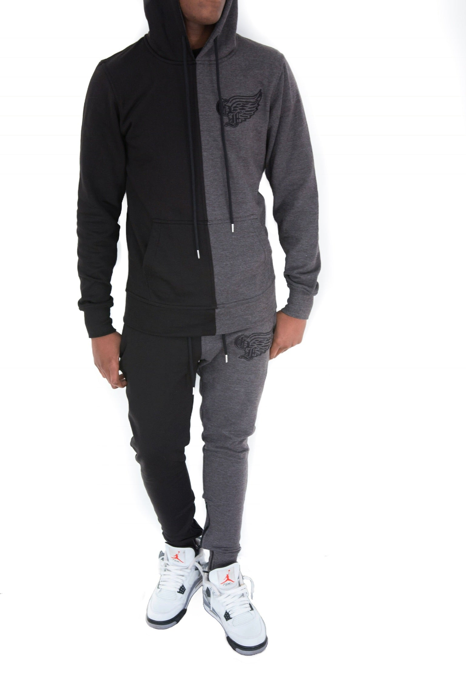 God First Two Tone Signature Sweatsuit - Black/Grey