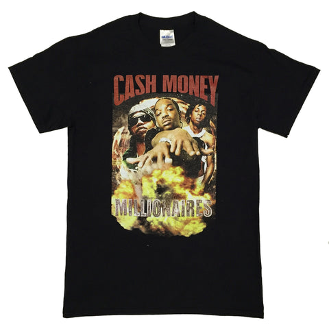 Vintage HipHop CASH MONEY Tee - Black