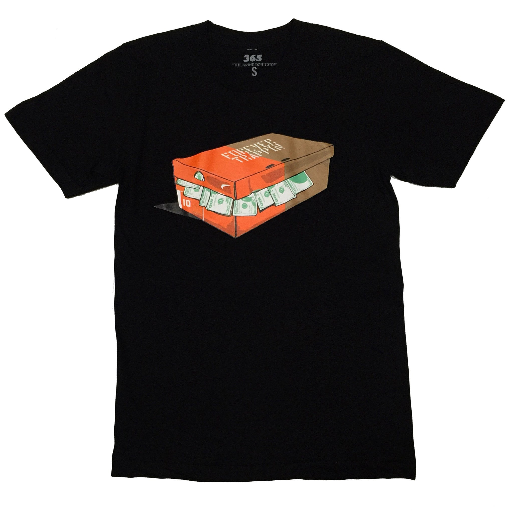 365 Clothing Forever Trappin/Nike Sneaker Box Tee - Black